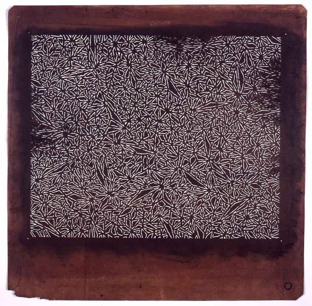 作品画像:長板中形型紙 麻の葉くずし