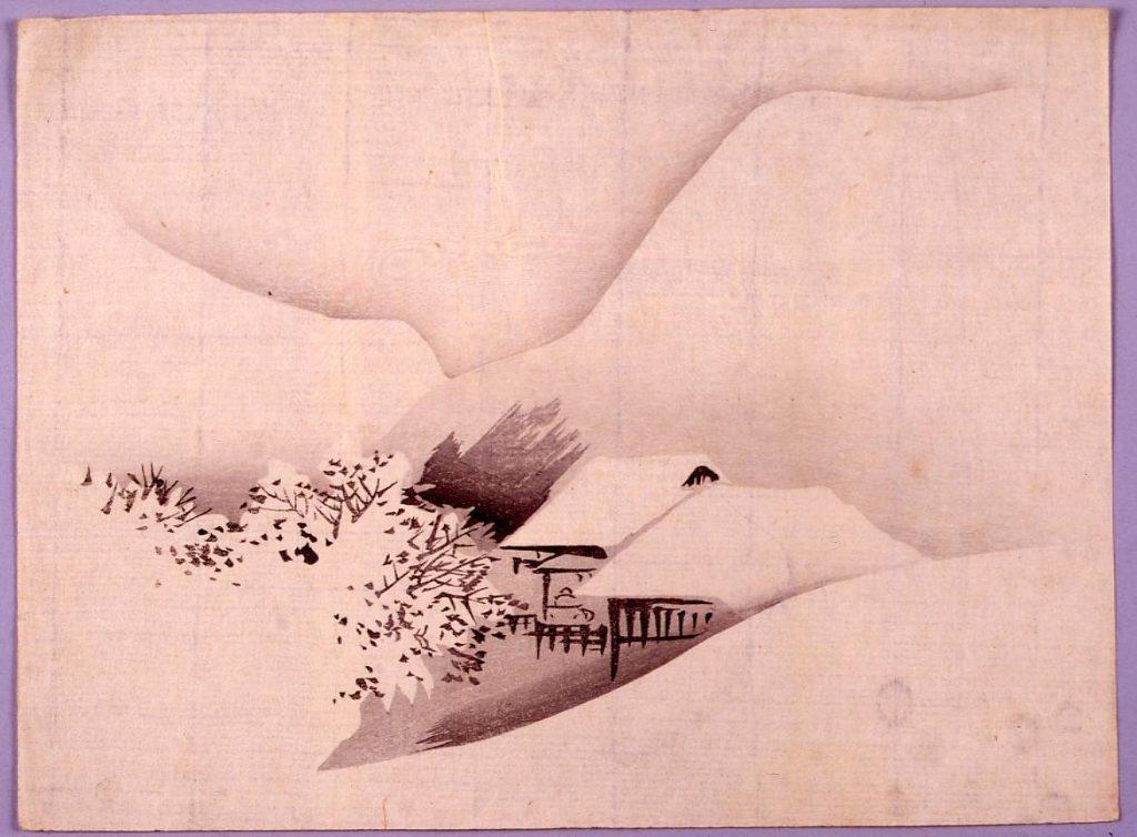 作品画像:雪景山水図