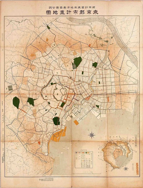 作品画像:東京都市計画地図