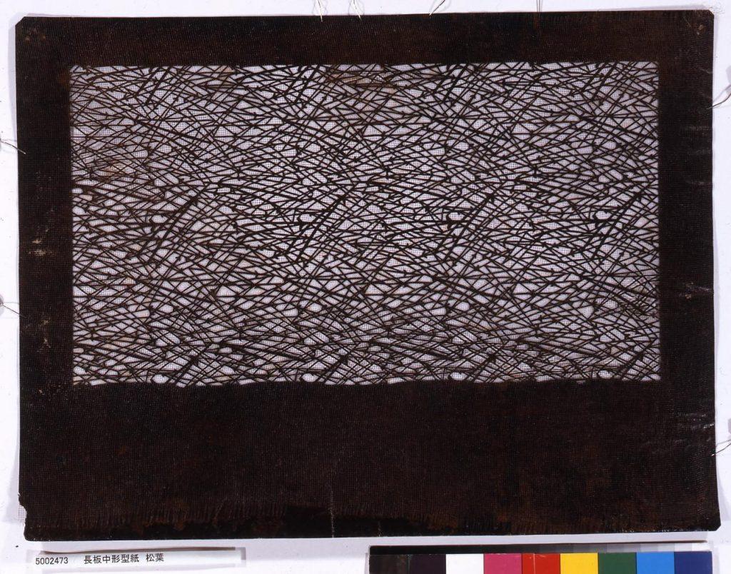 作品画像:長板中形型紙 松葉