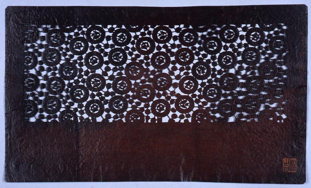 作品画像:長板中形型紙 竜小丸文 (小判 追掛)