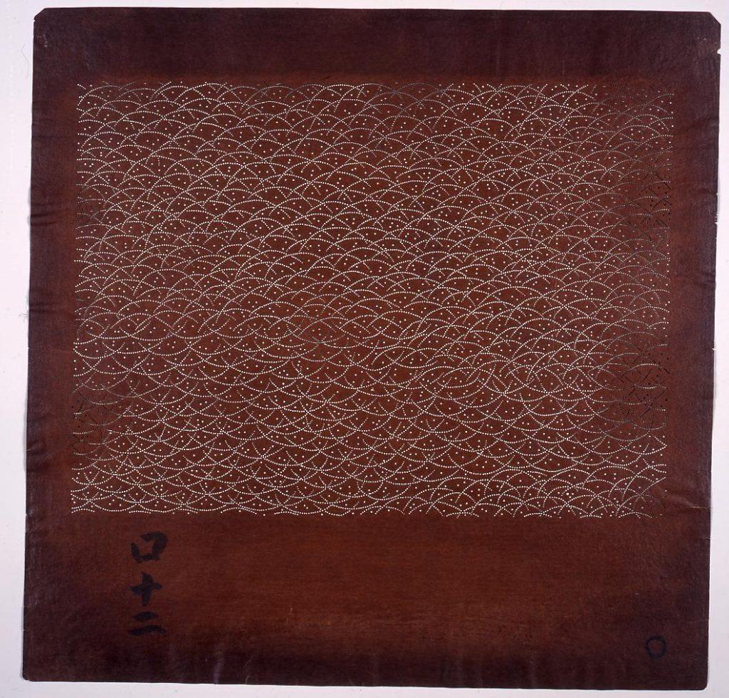 作品画像:長板中形型紙 露芝