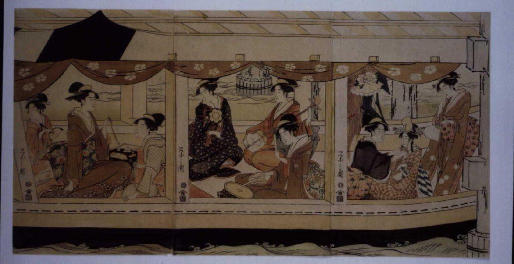 作品画像:隅田川船遊び