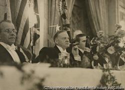 作品画像:晩餐会でのフーヴァー大統領 1929