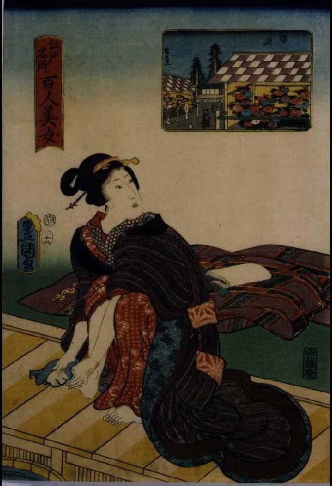 作品画像:江戸名所百人美女 染井