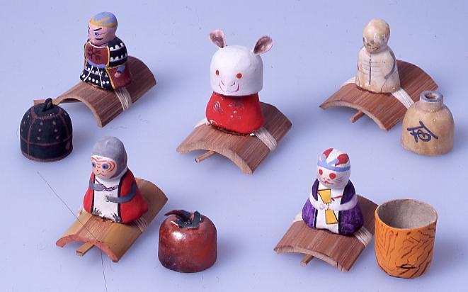 作品画像:ミニチュア玩具 とんだりはねたり ねずみ