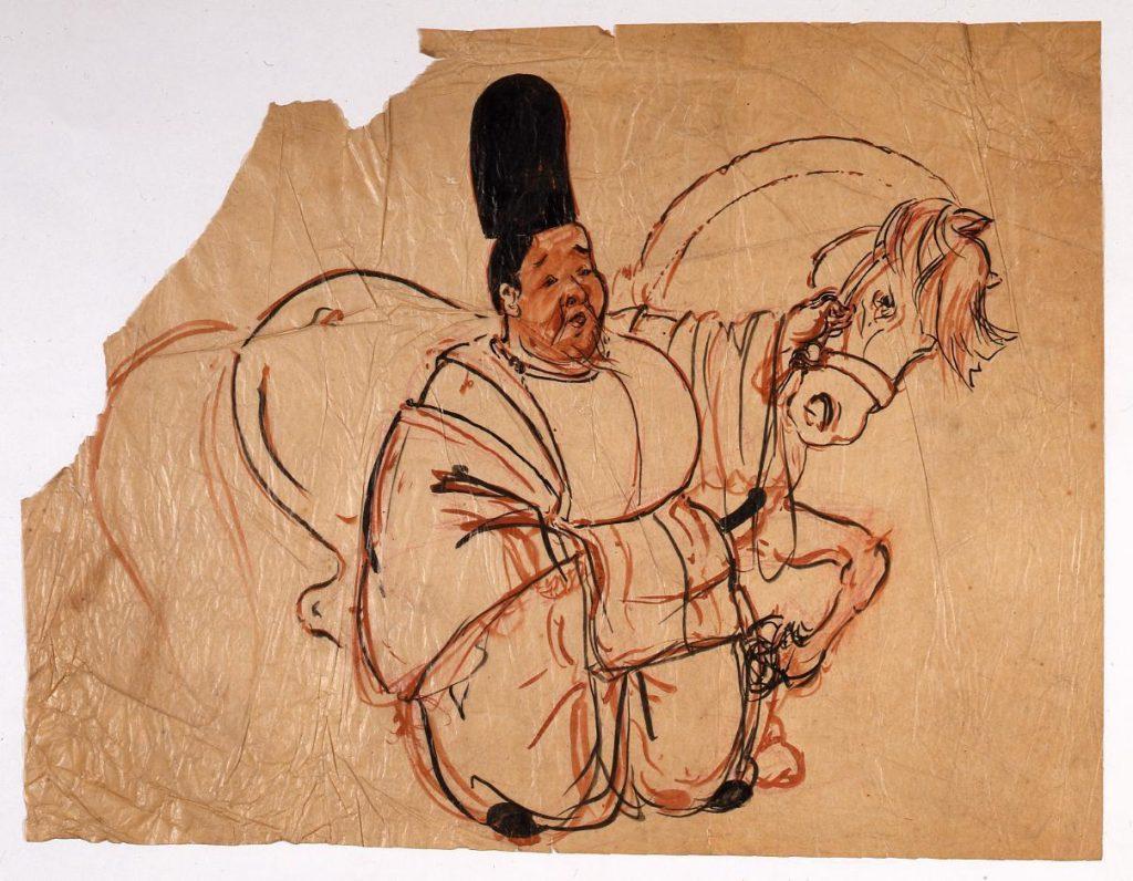作品画像:下絵 「白馬の節会」