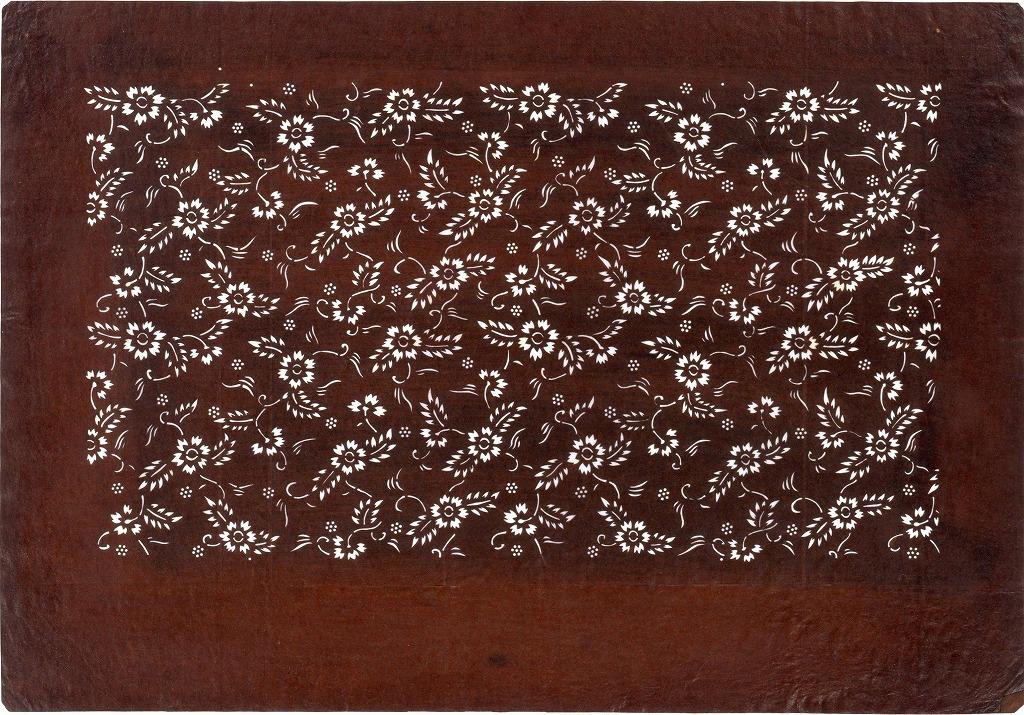 作品画像:長板中形型紙 小菊唐草