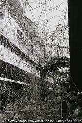 作品画像:横浜岸壁・浅間丸