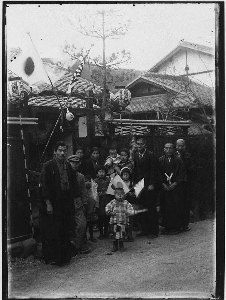 作品画像:岡田茂一満州国吉林入営祝い記念写真