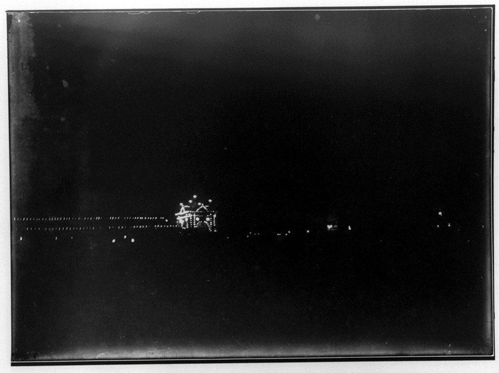 夜景のネオン