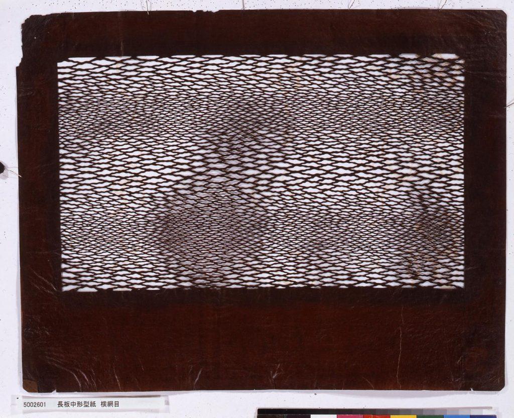 作品画像:長板中形型紙 横網目