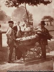 作品画像:傘売りの男とジンジャー・ビールの業者