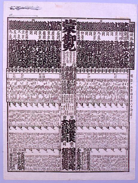 作品画像:回向院大相撲番付 明治十五年五月場所