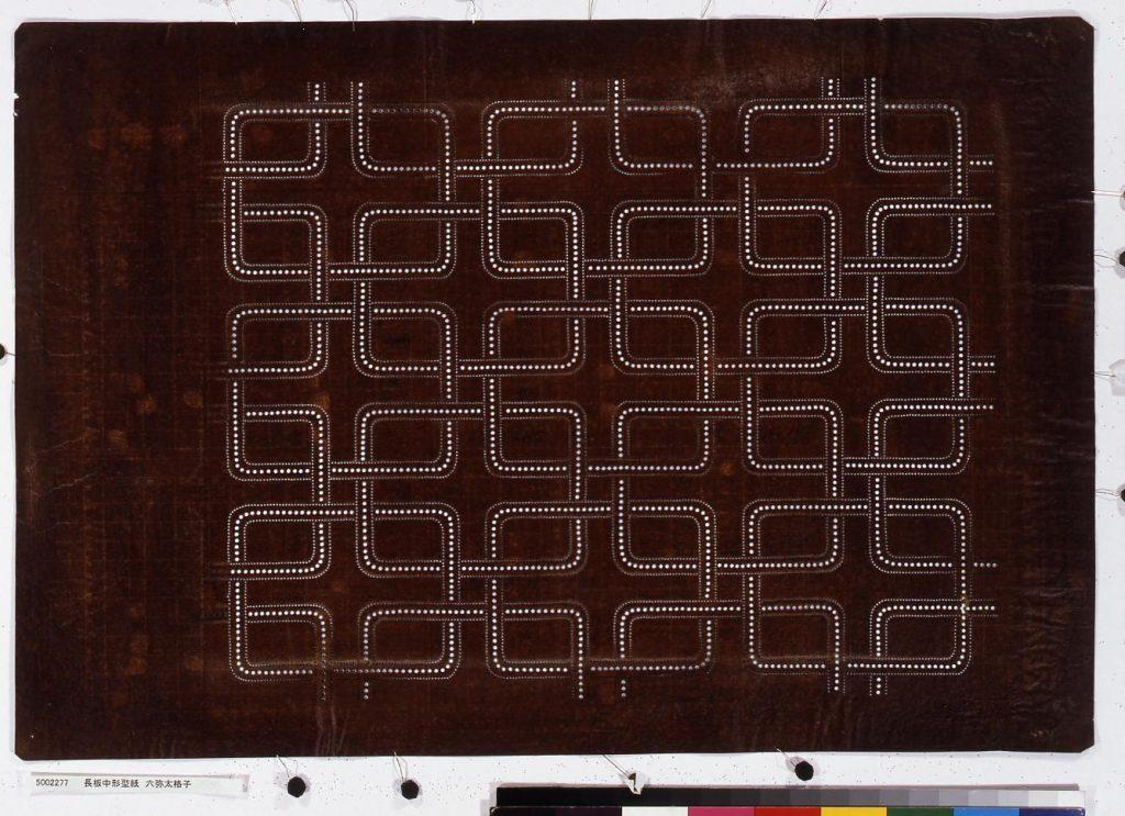 作品画像:長板中形型紙 六弥太格子