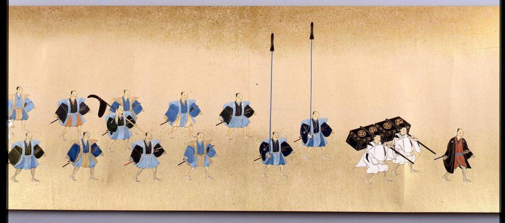 作品画像:伊予松山藩久松松平家登営行列図絵巻