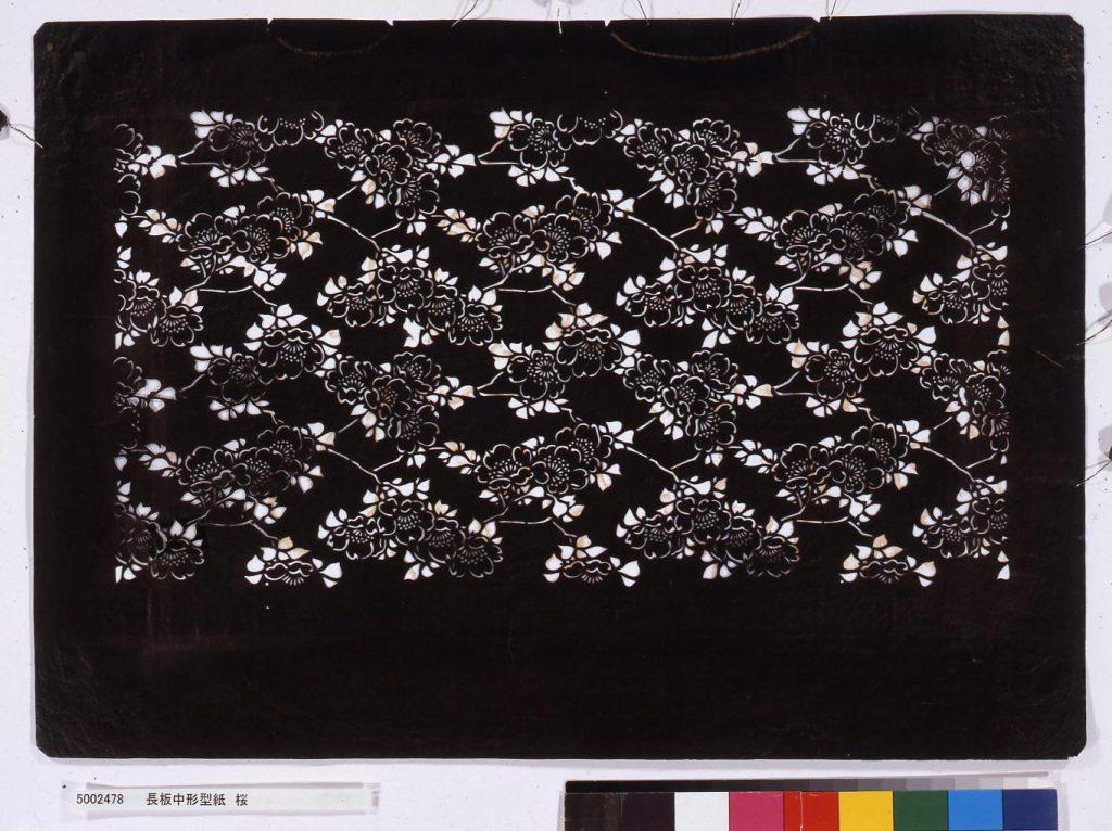 作品画像:長板中形型紙 桜
