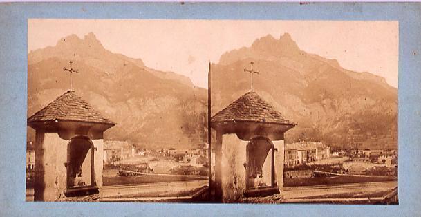 作品画像:外国製ステレオ写真 ヨーロッパ山岳地方の村[スイス]