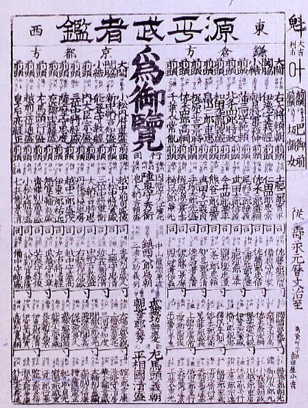 作品画像:源平武者鑑