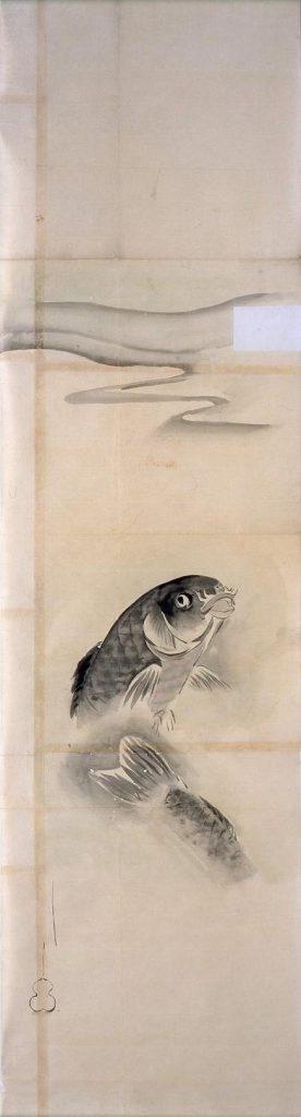 作品画像:粉本 水流に鯉
