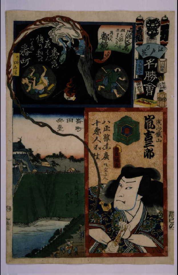 作品画像:江戸の花名勝会 万 二番組