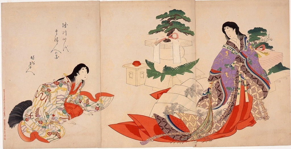 作品画像:徳川時代貴婦人の図