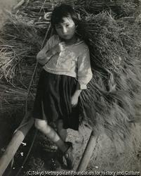 作品画像:田園の図・少女