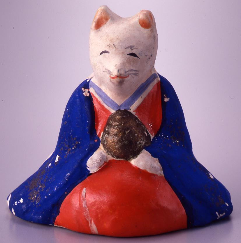 作品画像:今戸人形 口入稲荷(狐)