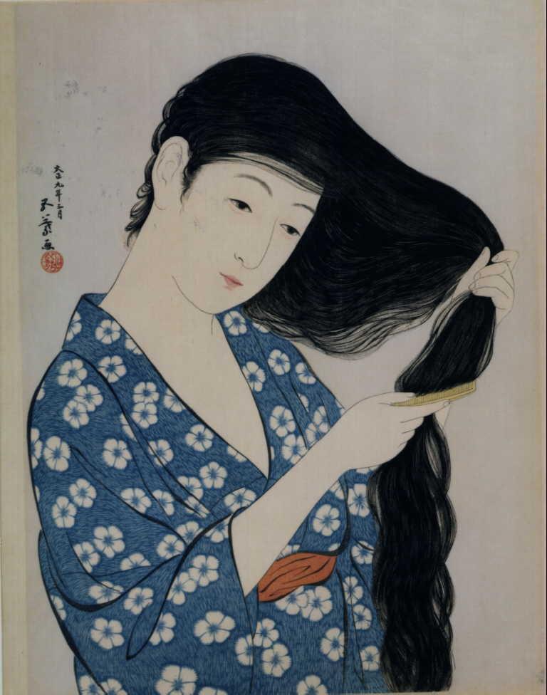 作品画像:髪梳ける女