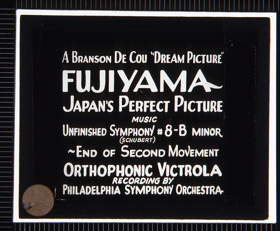 作品画像:字幕 富士山(幻燈原板)