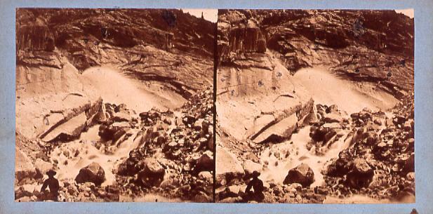 作品画像:外国製ステレオ写真 ヨーロッパ山岳地方の渓流