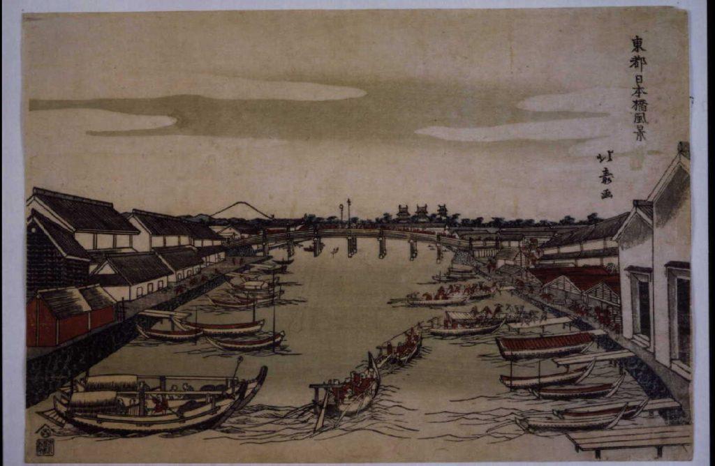 作品画像:東都日本橋風景