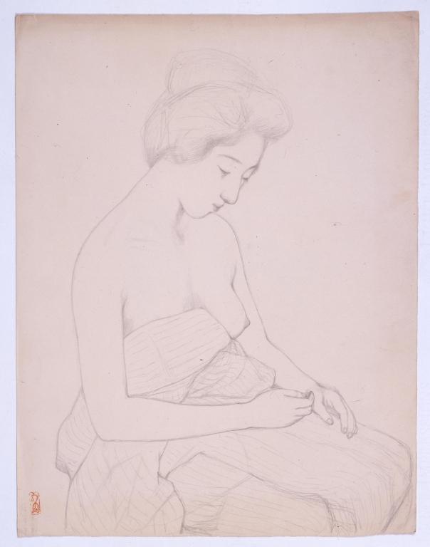 作品画像:肩脱ぐ女