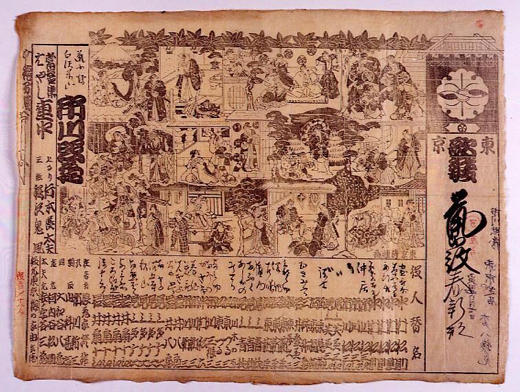 作品画像:辻番付「東京歌舞伎」