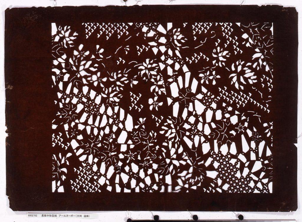 作品画像:長板中形型紙 アールヌーボー(大判 追掛)