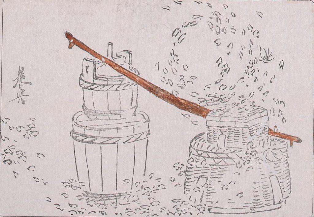 作品画像:着色墨版 [籠に樽]