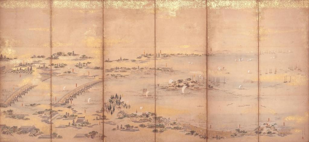 作品画像:隅田川風物図屏風