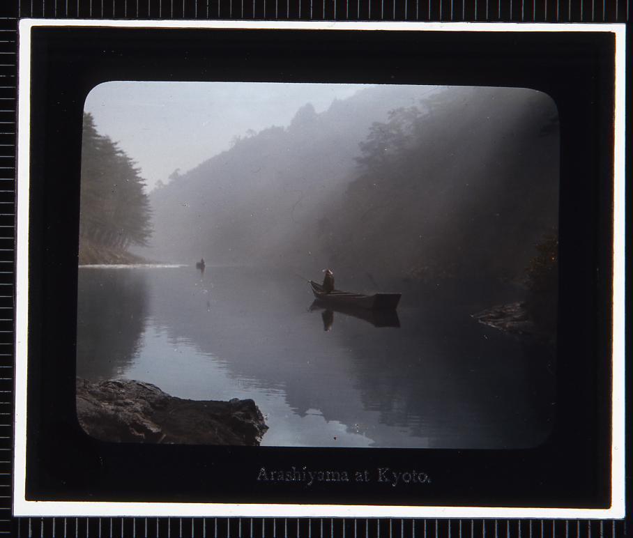 作品画像:京都 嵐山(幻灯原板)