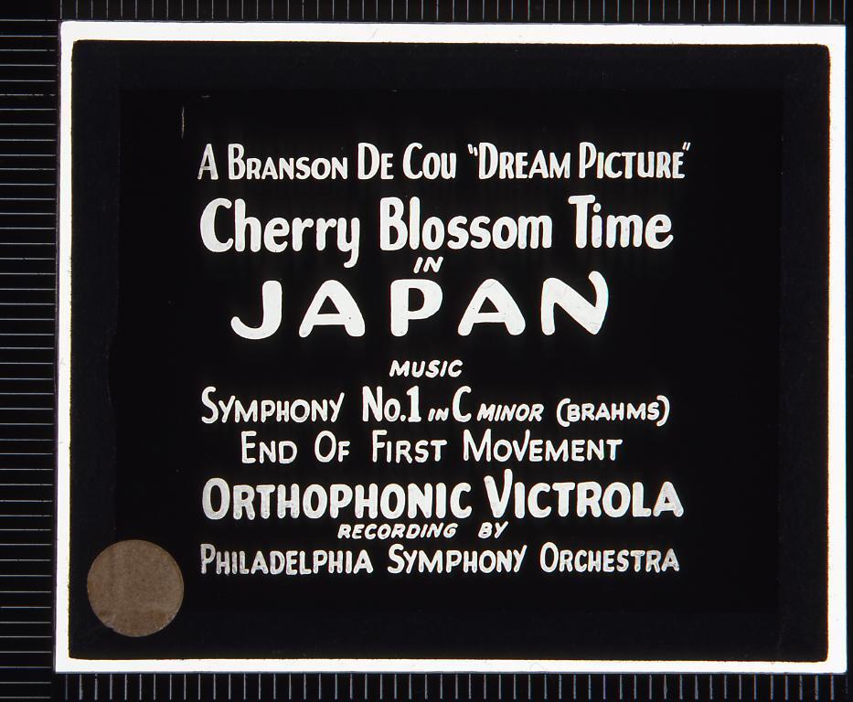 作品画像:字幕 日本の桜(幻燈原板)