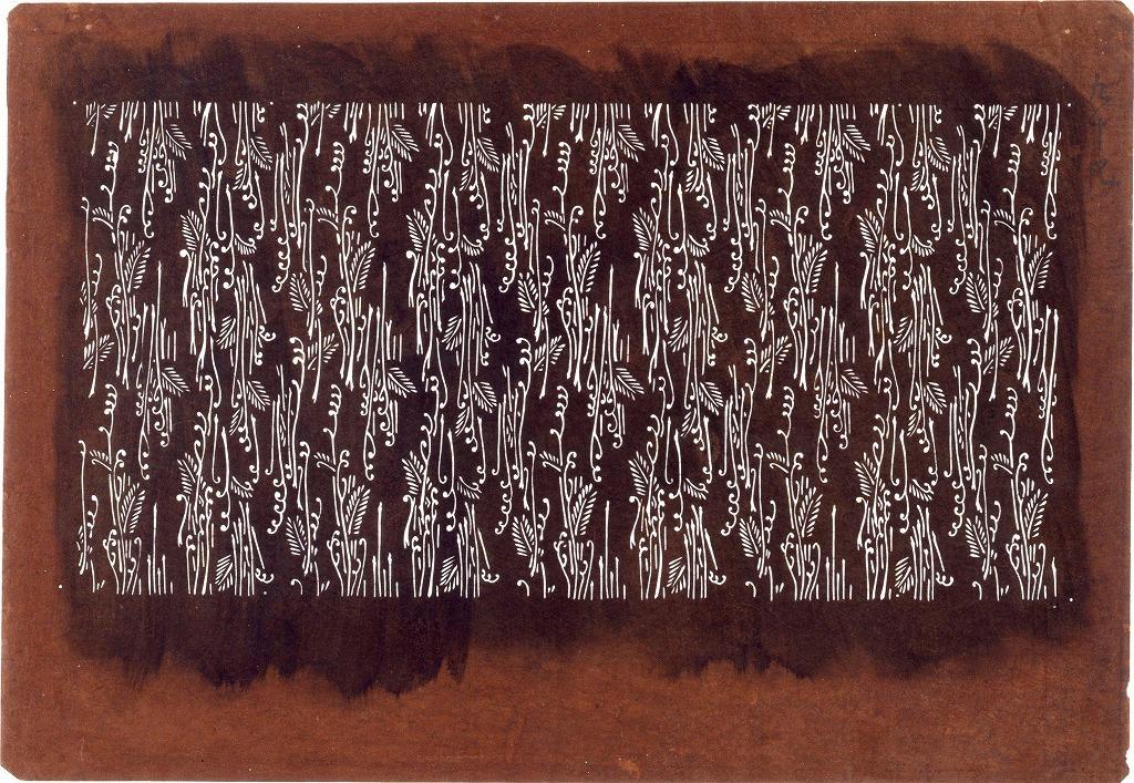 作品画像:長板中形型紙 わらび文