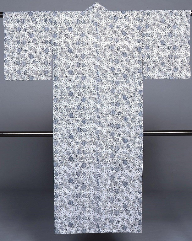 長板中形浴衣 花丸文に小桜