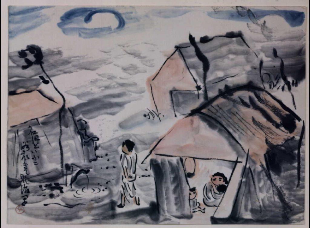 作品画像:関東大地震画:名月といふに浴衣きて