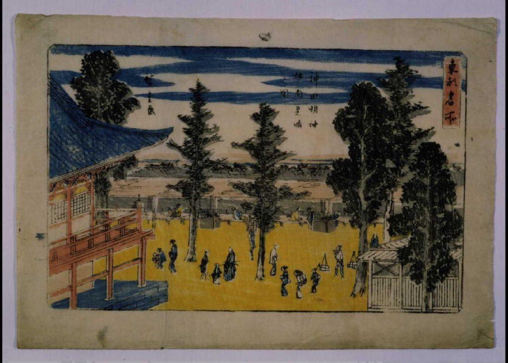 作品画像:東都名所 神田明神境内見晴之図
