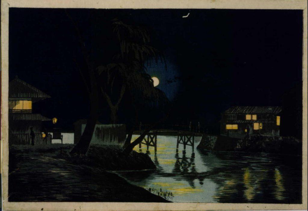 作品画像:今戸橋茶亭の月夜