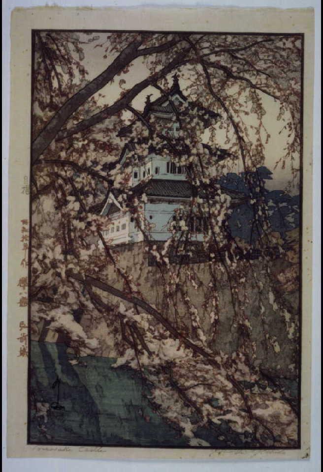作品画像:桜八題 弘前城 試摺