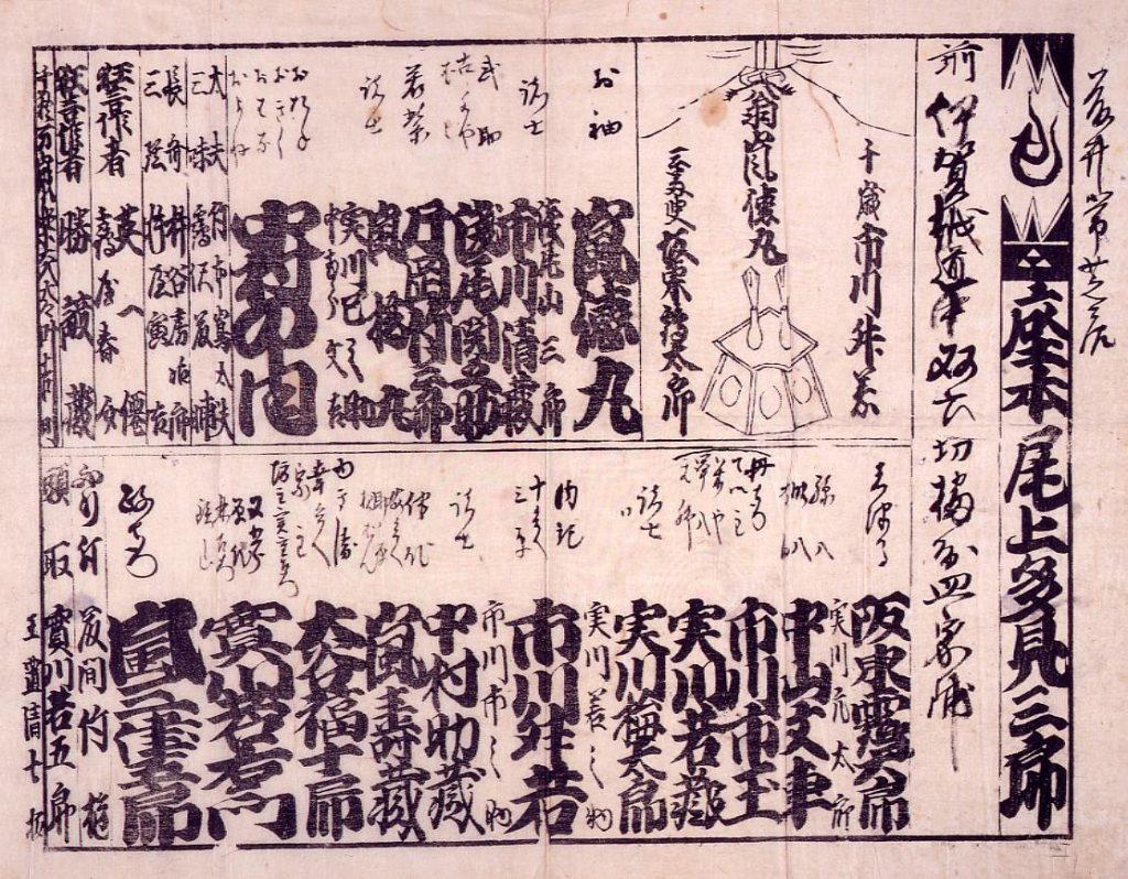 作品画像:役割番付(「伊賀越道中双六」)