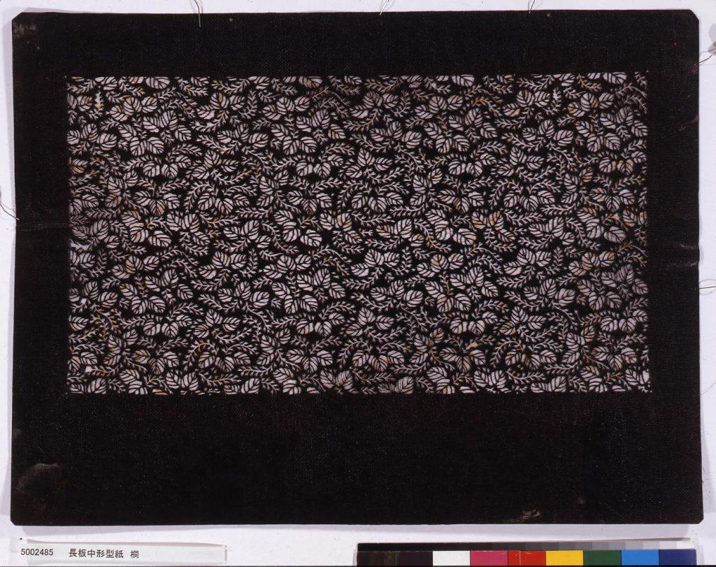 作品画像:長板中形型紙 桐