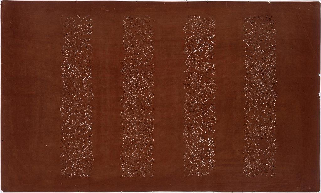 作品画像:長板中形型紙 横段撫子(大判 追掛)