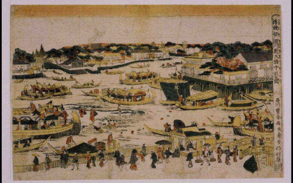 作品画像:浮絵江戸深川新大橋中須之図