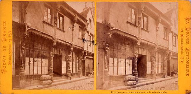 作品画像:外国製ステレオ写真 Views of France (La France Pittoresque et monumentale)Bouges Mcienne maison